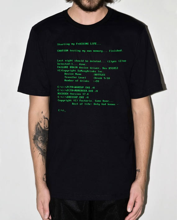 CAMISETA MS-DOS