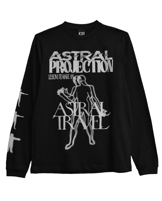 CAMISETA MANGA LONGA __ASTRAL PROJECTION PRETO